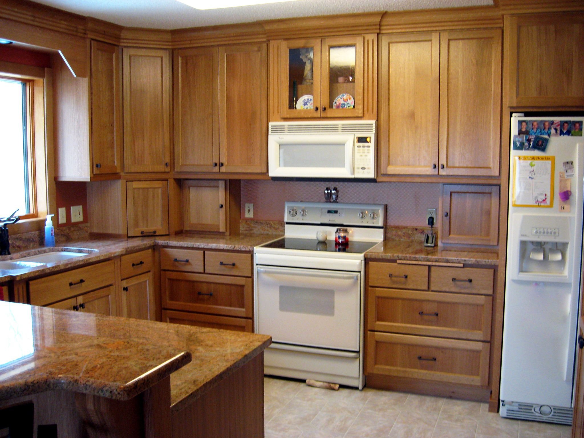 Custom White Oak Kitchen Cabinets Finewood Structures Browerville Mn