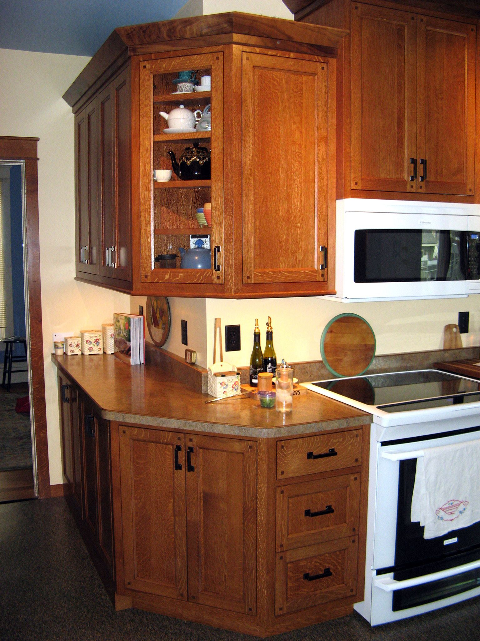 Exceptional Custom Quarter Sawn White Oak Kitchen Cabinets Great Ideas